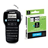 Dymo LabelManager 160 Handheld Label Maker QWERTY Keyboard & D1 Standard Labelling Tape 12mm x 7m - Black on White