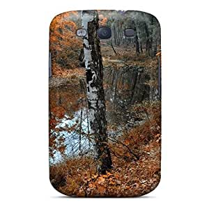 Hot Snap-on Still River In An Autumn Forest Hard Cover Case/ Protective Case For Galaxy S3