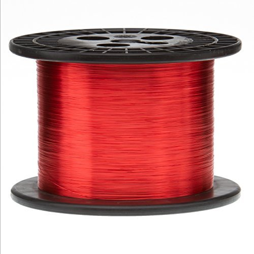 Remington Industries 29SNS Magnet Wire, Enameled Copper Wire, 29 AWG, 5.0 lb, 12600' Length, 0.0121'' Diameter, Red