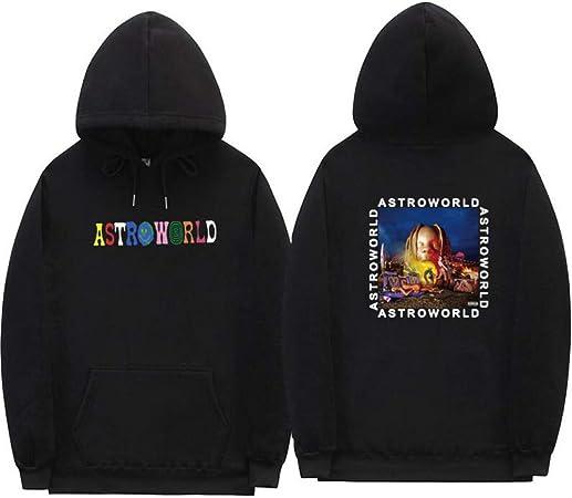 LSJTZ per Gli Uomini e Le Donne del Pullover del Hoodie Travis Scott Poster Astroworld Via della Moda Morbido Comodo