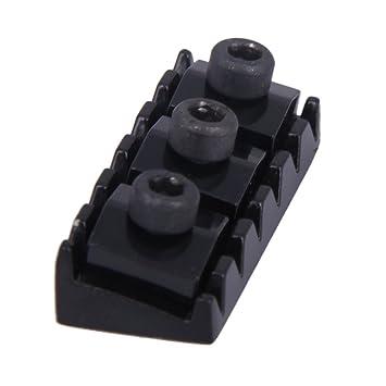 Barra de Whammy para brazo de guitarra de 6 mm y 43 mm con cierre de cuerda, gran repuesto para sistema de doble bloqueo Floyd Rose Tremolo, color negro: ...