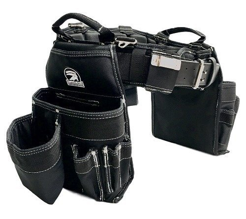 "TradeGear MEDIUM 31-35"" Carpenter's Combo Belt & Bag – Strong & Durable Carpenter Tool Belt Designed for Optimum Comfort – Sufficient Carry Space for All Your Carpenter Tools – Partnered w/GatorBack"