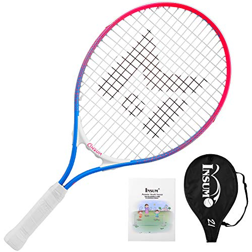 insum Junior Tennis Racquet 21″ Beginner Kids Starter(Ages 5-6) with Shoulder Strap Cover Bag