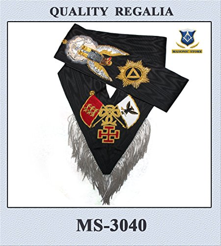 Masonic 30 Degree Sash Hand Embroidery ()