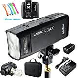 Godox AD200 200Ws 2.4G TTL Flash Strobe Speedlite 1/8000s HSS 2900mAh Battery with X1N-T Wireless Flash Transmitter for Nikon DSLR Camera