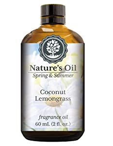 Coconut Lemongrass Fragrance Oil (60ml) For Diffusers, Soap Making, Candles, Lotion, Home Scents, Linen Spray, Bath Bombs, Slime