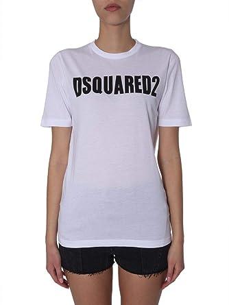 Shirt S72gd0147s21600100 Dsquared2 Blanc Femme T Coton E9D2WeYHI