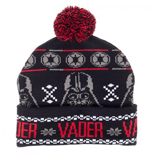 Bioworld Star Wars Darth Vader Fairisle Pom Beanie Winter Hat