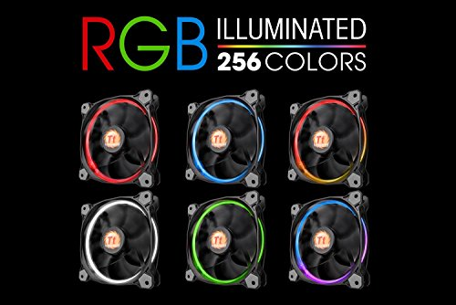 Thermaltake Riing 14 RGB Series High Pressure 140mm Circular LED Ring Case Radiator Fan CL-F043PL14SW-A