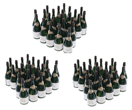 Nicky Bigs Novelties 72 Mini Champagne Bottles Wedding Bubbles New Years Eve Graduation Party -