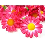 24-Silk-Hot-Pink-Gerbera-Daisy-Flower-Heads-Gerber-Daisies-175-Artificial-Flowers-Heads-Fabric-Floral-Supplies-Wholesale-Lot-for-Wedding-Flowers-Accessories-Make-Bridal-Hair-Clips-Headbands-Dress