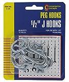 Convenience Concepts SC-5R Pegboard ''J'' Hooks