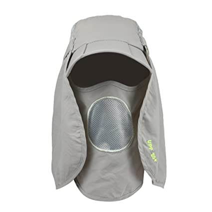 653c62b2435 Generic 360-degree Neck Shawl Sun UV Protection Removable Hat Hunting  Fishing Grey