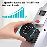 MaxKare-Cyclette-Pedaliera-Mini-Desk-Cyclette-Pedali-Magnetica-Cyclette-da-Casa-con-Monitor-LCD-per-Braccia-e-Gambe-Bicicletta-FitnessFasce-di-Resistenza-Incluse