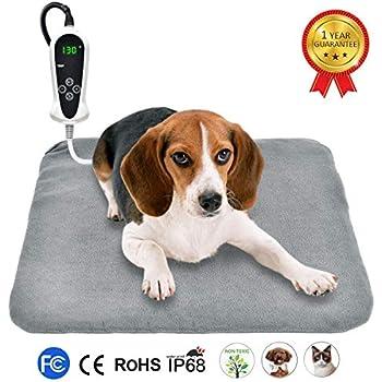RIOGOO Pet Heating Pad, Upgraded Electric Dog Cat Heating Pad Indoor Waterproof, Auto Power Off 18