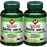 Member's Mark - Garlic 1000 mg, 600 Softgels, Twin Pack (2 Bottles of 300)
