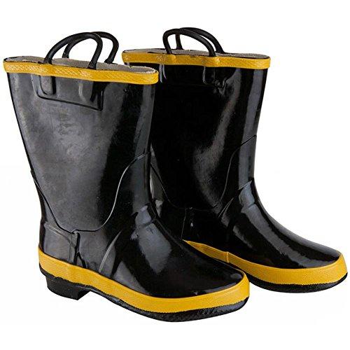 Child Black Paramedics Boots Size 1 (Paramedic Costume)