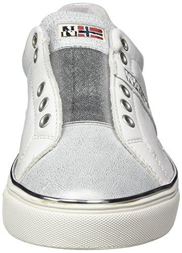Mocassini Napapijri white Donna Footwear silver Weiß Alicia qxxgUSE
