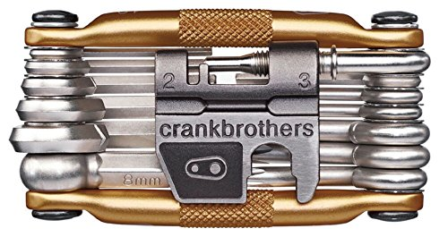 Crank Brothers Multi Bicycle Tool (19-Function, Gold) (Tool Brake Torx Disc)