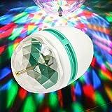 0c3cacd7370 RGB LED bombilla de la lámpara 3W E27 giratoria juego multicolor disco light