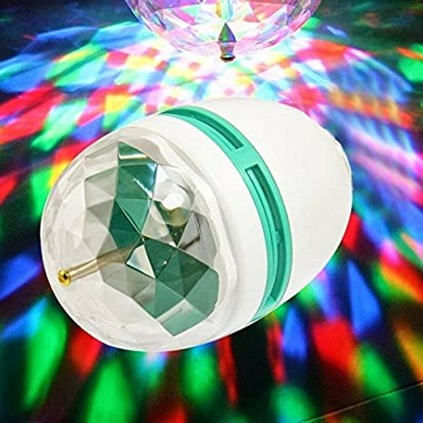RGB LED bombilla de la lámpara 3W E27 giratoria juego multicolor disco light: Amazon.es: Iluminación