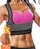 #6: Ursexyly Waist Trainer Fat Burn Sweating Vest Shirt, Neoprene Slimming Sauna Suit Tank Top For Women Tummy Control