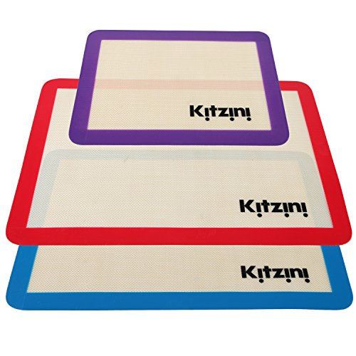 Silicone Baking Sheet Mat Set (3) 2 Half Sheets + 1 Qtr Sheet (Silicone Baking Sheet Liners compare prices)