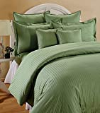 "Trance Home Linen 210 TC Cotton Duvet Cover with 2 Pillow Covers - King Size (Moss Green) - 102"" x 110"""