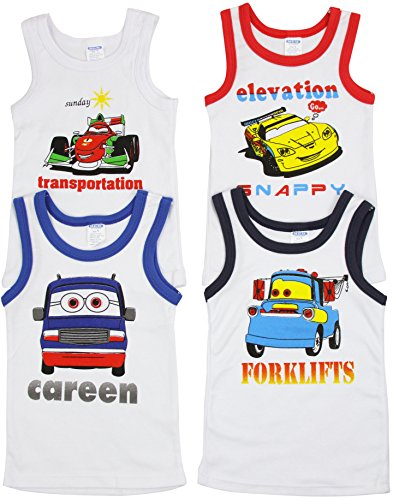 ToBeInStyle-Boys-Pack-of-4-Tank-Tops