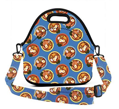 Premium Neoprene Japanese Ramen Lunch Bag women Handbag