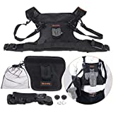 Commlite Multi-Functional Rain-Proof Dual Camera Lens Carrying Vest Holder with Side Holder & Belt Strap for Canon Nikon Sony