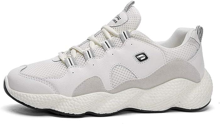 Zapatillas de Correr Blancas para Hombre Transpirable ...