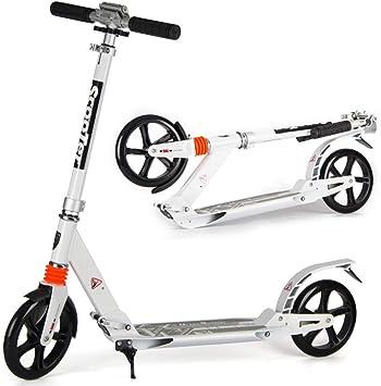 Kick Scooter Pliable Aluminium GRANDES ROUES PUSH hauteur réglable sangle de transport