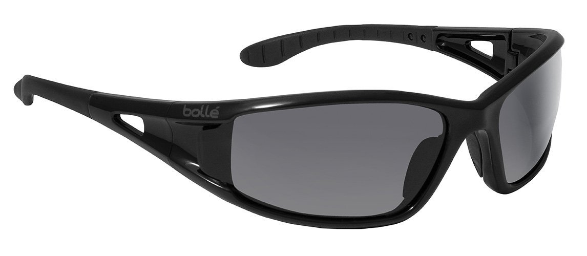 0df1f51616d Bollé Safety 253-LW-40052 Lowrider Safety Eyewear with Shiny Black  Polycarbonate Frame and Smoke Lens - Safety Glasses - Amazon.com