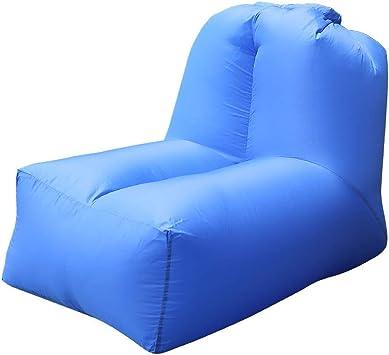 Saco de Dormir Hinchable Portátil para Tumbona, sofá Cama con Respaldo Ajustable para Interiores y Exteriores, Camping, Playa, Parque Trasero, Piscina: Amazon.es: Deportes y aire libre