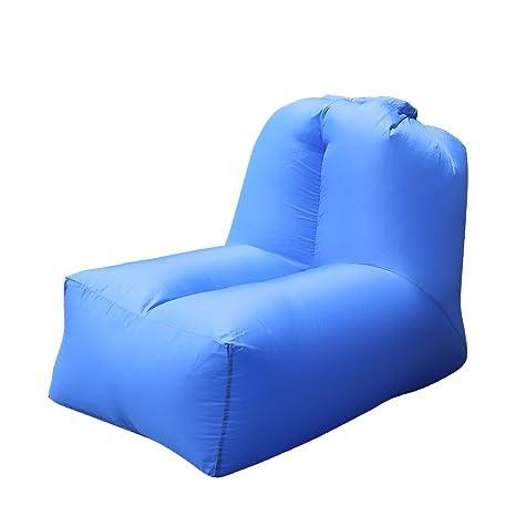 Saco de Dormir Hinchable Portátil para Tumbona, sofá Cama con Respaldo Ajustable para Interiores y