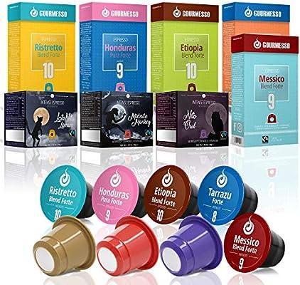 Gourmesso caja Bio & Fairtrade - 100 cápsulas de café compatibles ...
