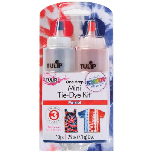(Tulip One-Step Tie Dye Kit, Mini, Patriot, 2-Pack)