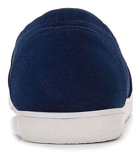 Comeshun Scarpe Da Donna Classici Appartamenti Comfort Slip On Sneakers Navy