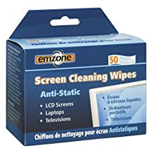 EMPACK EMP47044 Anti-Static Screen Cleaning Wipe-for Display Screen, Keyboard, Notebook, Gaming Console, Telephone, Home/Office Equipment-Anti-Static, Lint-Free, Non-Flammable, Alcohol-Free-50/Box