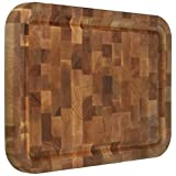 Catskill Craftsmen Reversible End Grain Block Cutting Board with Groove
