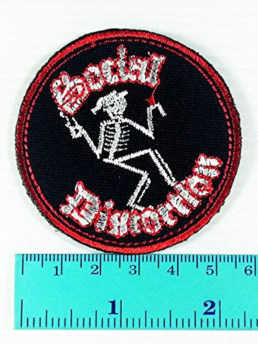 Social Distortion Skeleton Costume (SOCIAL DISTORTION Band logo Heavy Metal Punk Rock Jacket T Shirt Patch Sew Iron on Embroidered Symbol Badge Cloth Sign Costume)