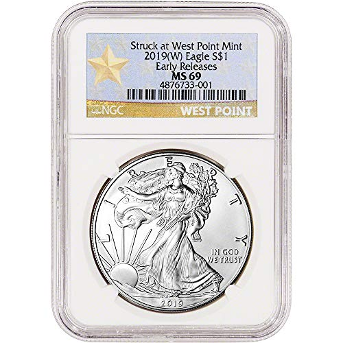 2019 (W) American Silver Eagle Early Releases WP Star Label $1 MS69 NGC