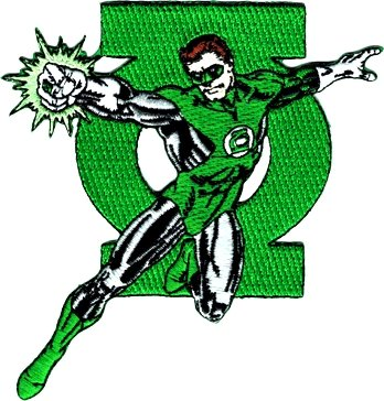 DC Comics Green Lantern With Logo Embroidered Iron On Movie Patch Applique DC15]()