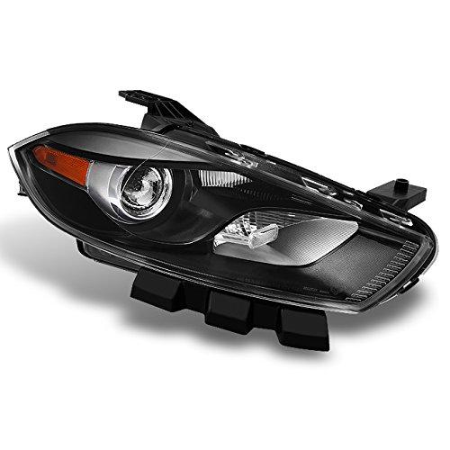 Dodge Dart Halogen Type Black Passenger Right Side Front Headlight Head Lamp Front Light Replacement Dart Heads