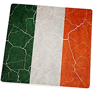 Distressed Irish Flag Set of 4 Square Sandstone Coasters Multi Standard One Size