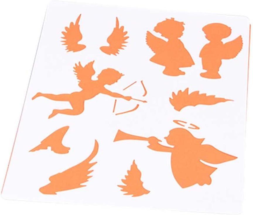 hestio alas de ángel DIY álbum adhesiva aerosol pintado plantilla para Scrapbooking: Amazon.es: Juguetes y juegos