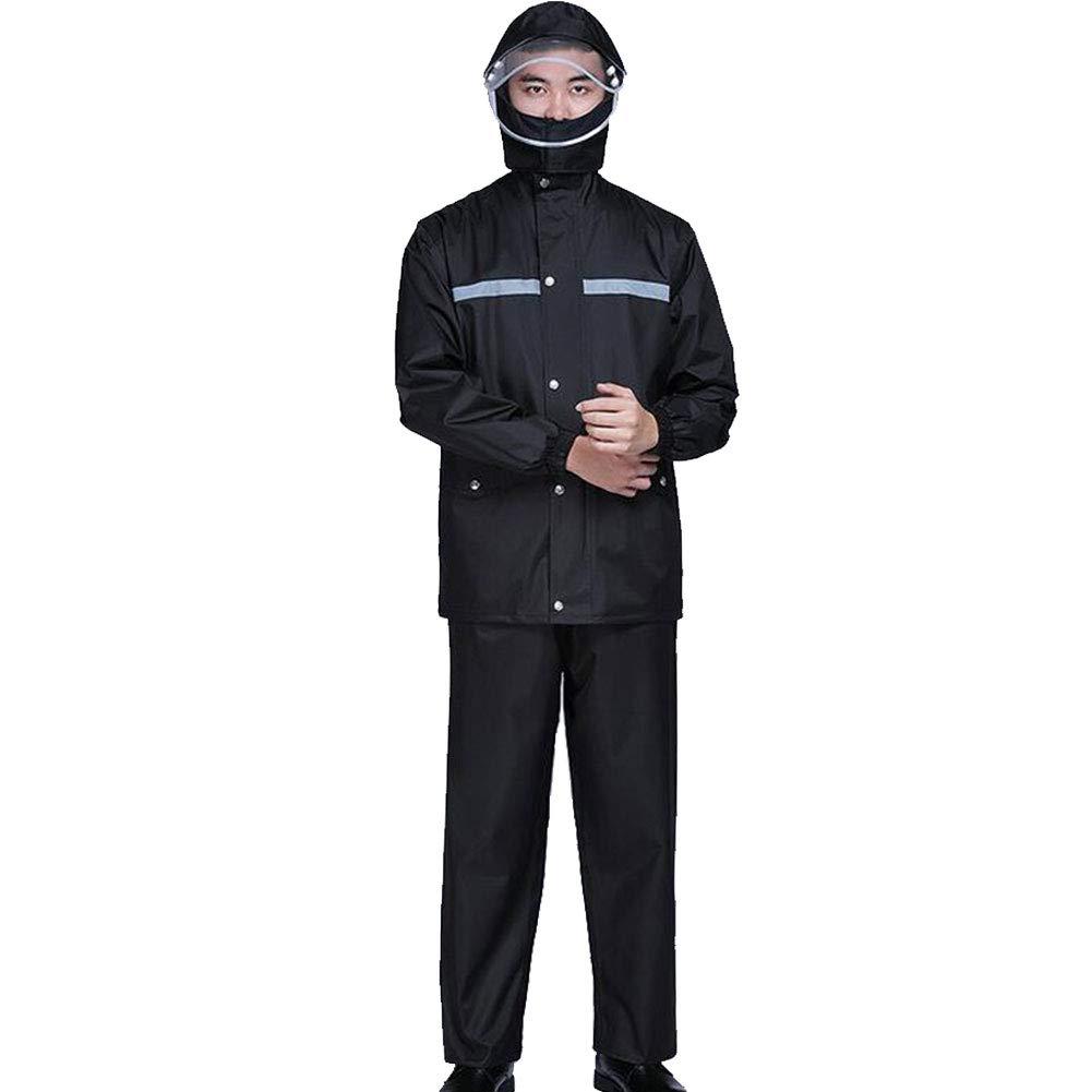 Rain season Combinaison de Pluie, Ensemble Veste et Pantalon imperméables Coupe-Vent Convient pour Scooter, Moto, vélo,XXXXL