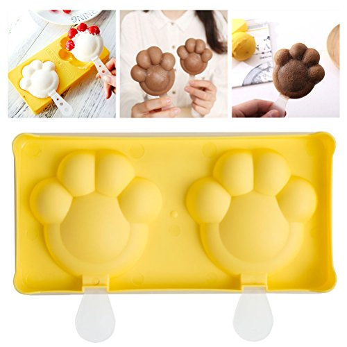 Halloween Gifts Popsicle molds with Sticks for Kids Toddler and Adults BPA Free Small Ice Pop Molds with Lid - Dishwasher Safe, Yellow Cat's (Healthy Halloween Treats For Kids School Party)