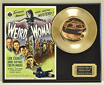 Weird Woman Limited Edition Gold 45 Record Display. Only 500 made. Limited quanities. FREE US SHIPPING